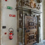 A old fireplace, now performing duties as a fire exit? :)